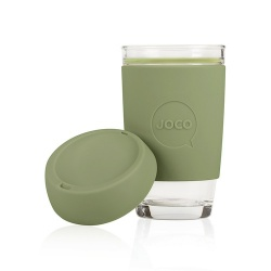 JOCO Cup Reusable Glass Coffee Cup 16oz - Army Green